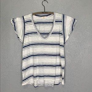 Anthropologie t. la flutter sleeve striped T-shirt